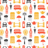 Seamless pattern with London symbols
