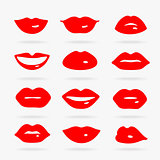 Set of Vector Symbols Lips
