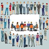 Geschäftsleute planen neue Mitarbeiter