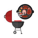Grill meat vector illustration.