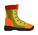 Travel boots vector illustration.