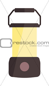 Camping lamp vector illustration.