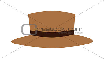 Broen hat beautiful vector.