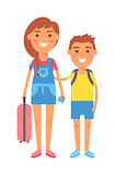 Travel kids vector illustration.