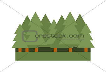 Forest icon vector illustration.