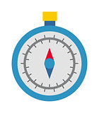 Travel compass vector icon