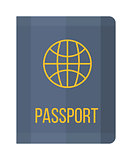 Vector illustration passport icon