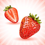 Red fresh strawberries.