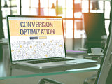 Conversion Optimization Concept on Laptop Screen.