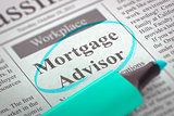 We're Hiring Mortgage Advisor.