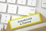 Folder Register with Scheduling & Timing.