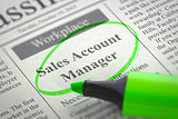 We are Hiring Sales Account Manager.