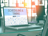 Scheduling and Timing Concept on Laptop Screen.