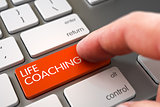 Hand Finger Press Life Coaching Keypad.
