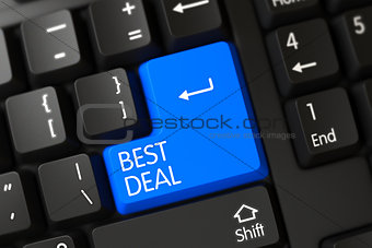 Blue Best Deal Button on Keyboard.