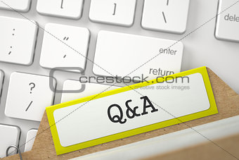 Card File with Q&A.