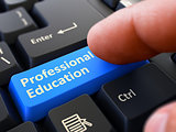 Professional Education - Clicking Blue Keyboard Button.