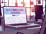 Customer Care Services Concept on Laptop Screen.