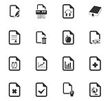 Documents icons set