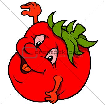 Cartoon Smiling Tomato