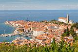 Picturesque old town Piran, Slovenia.