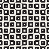 Vector Seamless Black And White Irregular Wavy Lines Geometric Pattern