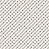 Vector Seamless Geometric Diagonal Irregular Dash Lines Pattern