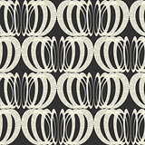 Vector seamless pattern with interweaving of circles.