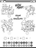 math avtivity coloring book
