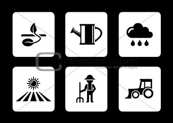 agriculture six icons