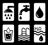 six concept water icons