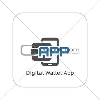 Flat Digital Wallet APP concept Illustration
