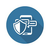 Safety Messaging Icon. Flat Design.
