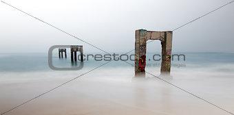 Abandoned Davenport Pier Beach