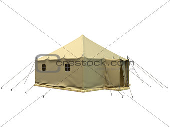 3D rendering of a military tent
