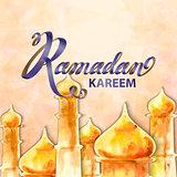 Illustration of Ramadan kareem and Ramadane mubarak.