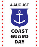 Coast guard day greeting card.