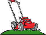 Lawnmower Front Isolated Cartoon