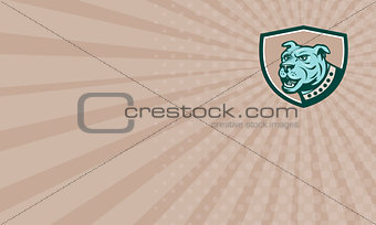 Business card Mastiff Dog Mongrel Head Side Crest Cartoon