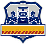Train Engineers Arms Crossed Diesel Train Crest Retro