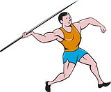 Javelin Throw Track and Field Cartoon