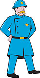 New York Policeman Vintage Standing Cartoon