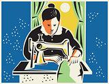 Seamstress Dressmaker Tailor Vintage