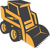 Skid Steer Digger Truck Retro