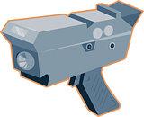 Mobile Speed Camera Radar Gun Retro