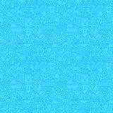 Blue Thin Line Baby Boy Seamless Pattern