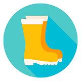 Garden Boots Circle Icon