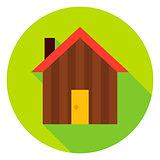 Garden House Circle Icon
