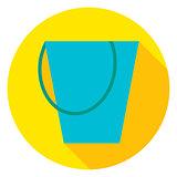 Garden Tool Bucket Circle Icon