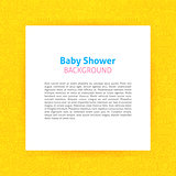 Paper Template over Baby Shower Line Art Background